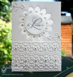 This gorgeous card by Christine Emberson shows how fabulous a white card can be!
