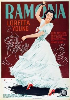 1936:  Loretta Young and Don Ameche in Ramona