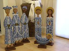 "23"" NATIVITY SET W/WISE MAN, wooden Holy Family | eBay"