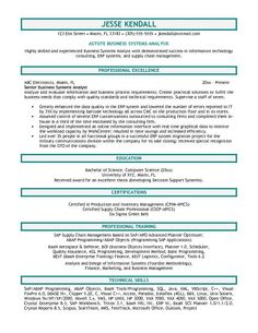 Business Systems Analyst Resume Template Example Of Business Analyst Resumes  Httpwwwresumecareer