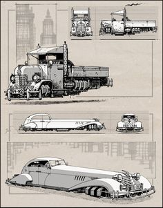 Dieselpunk Cars by RyanLovelock.deviantart.com on @deviantART