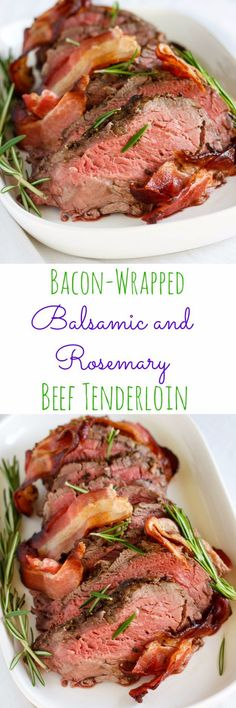 Best Easter Dinner Recipes - Bacon-Wrapped Balsamic and Rosemary Beef Tenderloin - Easy Recipe Ideas for Easter Dinners and Holiday Meals for Families - Side Dishes, Slow Cooker Recipe Tutorials, Main Courses, Traditional Meat, Vegetable and Dessert Ideas - Desserts, Pies, Cakes, Ham and Beef, Lamb - DIY Projects and Crafts by DIY JOY http://diyjoy.com/easter-dinner-recipes