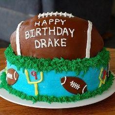 Make your little or big football fan an amazing football cake. Find lots of great football cake pictures, football cake recipes, football video...