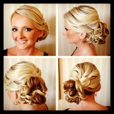 Loose side Updo, chignon, bridal hair, bridal hairstyle, www.theipdoguru.com