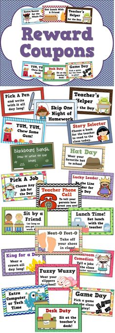for Positive Behavior Management - Student Motivators Reward coupons for positive behavior management - 25 different student incentives!Reward coupons for positive behavior management - 25 different student incentives! Student Incentives, Behavior Incentives, Behavior Coupons, Behavior Plans, Behavior Charts, Homework Incentives, Dojo Rewards, Behavior Report, Free Rewards
