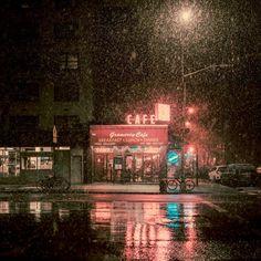 spanish moss street lights, illuminated hands held beneath charcoal skies