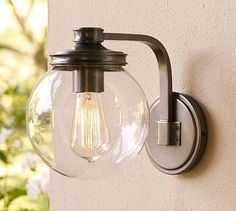 Clear globe porch light
