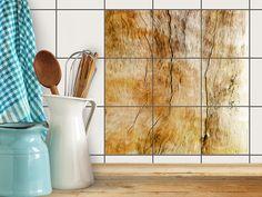 """Sogar Fliesen kommen jetzt in der modernen Holzptik daher mit unserem Design """"Unterholz""""! #fiesenfolie #fliesenaufkleber #fliesensticker #holz #küchenfliesen #badfliesen bekleben"""
