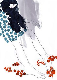 Daniel Egneus is een illustrator uit Zweden. Daarna is hij de wereld rondgereisd en heeft succesvol samengewerkt met vele grote merken. Ook heeft hij meerdere solo exhibities op zijn naam staan. Deze illustratie spreekt me aan door de stijl en de abstractie ervan.
