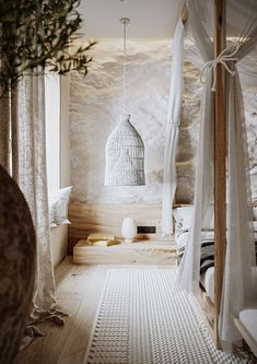 Wabi Sabi Bedroom on Behance Casa Wabi, Interior Design Tips, Stone Interior, Japanese Interior Design, Wabi Sabi, Interior Architecture, Bedroom Decor, Bali Bedroom, Bedroom Wall