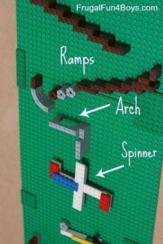 "How to make a LEGO Marble Run - Mrs. J in the Library's note: A more advanced design for students who want to ""level up"" the LEGO learning. king LEGO Marble Run - Frugal Fun For Boys and Girls Legos, Stem Activities, Activities For Kids, Projects For Kids, Crafts For Kids, Project Ideas, Diy Lego, Lego Minecraft, Minecraft Houses"