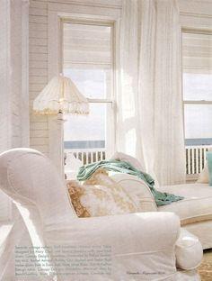White beach house.  This is how beach house decor should look.