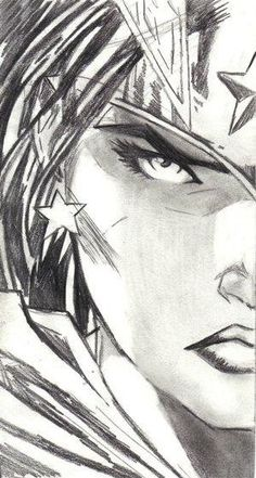 Details about Jim Lee Wonder Woman Head Drawing Justice ...