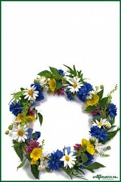Midsommarkrans flower wreath