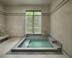 Bathroom Interior Design by Japanese. Modern Bathroom Design with Spacious Bathtub Bathroom Interior Design by Japanese Spa Bathroom Design, Spa Like Bathroom, Spa Design, Bath Design, Bathroom Styling, House Design, Design Ideas, Bathroom Ideas, Narrow Bathroom