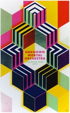 UNKNOWN MORTAL ORCHESTRA tourposter on Behance