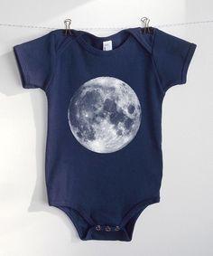 Jace needs this.....Full Moon Baby Onesie  Navy American Apparel by CrawlSpaceStudios, $22.00