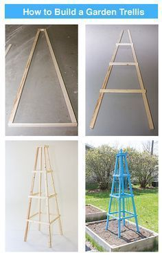 vining plants will love to climb this DIY Garden Trellis brought to you by - Your vining plants will love to climb this DIY Garden Trellis brought to you by .- Your vining plants will love to climb this DIY Garden Trellis brought to you by . Obelisk Trellis, Wood Trellis, Diy Trellis, Garden Trellis, Garden Beds, Home And Garden, Obelisks, Trellis Ideas, Tomato Trellis
