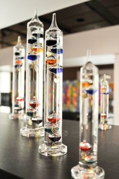 Galileo thermometers - HMNS