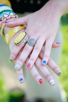 Fun nails - Street Style From the Governors Ball Music Festival on Randalls Island