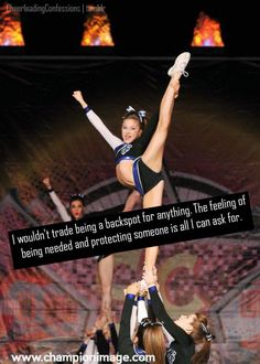 Shared by Find images and videos about text, cheerleading and cheerleader on We Heart It - the app to get lost in what you love. Cheer Qoutes, Cheerleading Quotes, Cheerleading Pictures, Cheer Stunts, Cheer Dance, Cheer Pictures, Cheerleading Videos, Cheerleading Cheers, Volleyball Pictures