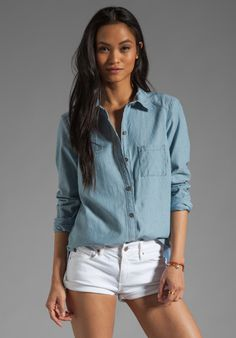 Paige Denim Eden Shirt in Ava Chambray | Wantering Trends – Spring 2013 | #wanteringtrends go to http://springtrends2013.wantering.com/ for more!