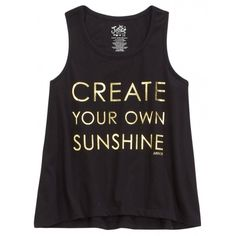 Sunshine Graphic Tank ($19) ❤ liked on Polyvore featuring middle top and tops