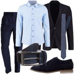 Pantaloni eleganti blu navy con tasche laterali e posteriori 50c235c3e491