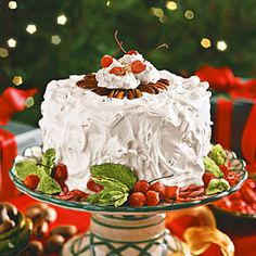 PECAN DIVINITY CAKE from Southern Living.Enjoy this cake the day you make it; the Divinity Frosting won't hold up for longer storage.