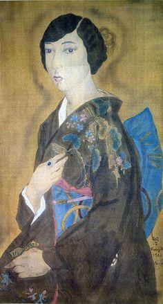 Foujita Tsuguharu, Portrait of Yamada Kiku, 山田キクの肖像, 1926