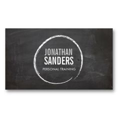 COOL CHALKBOARD CIRCLE with YOUR NAME Business Cards. This great business card design is available for customization. All text style, colors, sizes can be modified to fit your needs. Just click the image to learn more! Dj Business Cards, Business Card Design, Creative Business, All You Need Is, Personal Trainer, Identity, Teacher Cards, Teacher Logo, Fitness Logo