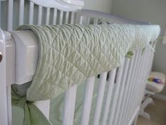 """Crib rail cover. To protect those """"lifetime"""" cribs from teething!"""