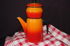 Vintage French Enamelware Coffee Pot Biggin by ThirdTimesCharming, $70.00