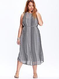 Women's Plus Printed Dresses