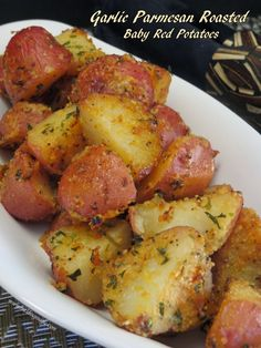 Garlic Parmesan Roasted Baby Red Potatoes