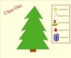 I have used this Christmas tree for years during the weeks before winter break to help motivate the students to be prepared and be respectful and a...