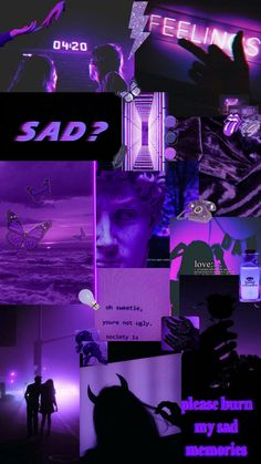 aesthetic purple dark iphone grunge wallpapers pink collage violet backgrounds edgy desktop retro quotes bad mystery october 4k emoji trippy