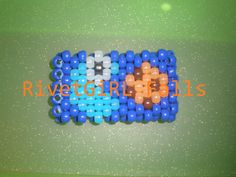 UV Cookie Monster Pacman inspired Kandi cuff bracelet Kandi Mask, Kandi Cuff, Kandi Bracelets, Creepy Cute, Cookie Monster, Easy Crafts, Something To Do, My Etsy Shop, Raves