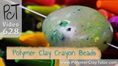 How To Make Polymer Clay Crayon Beads Tutorial