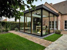 House Extension Design, Glass Extension, House Design, Garden Room Extensions, House Extensions, Natur House, Rooftop Terrace Design, Patio Enclosures, House Deck