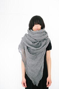 SCARFSHOP hand dyed cotton GIANT scarf