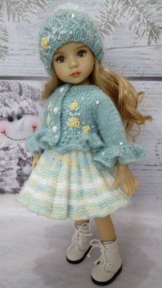"""Wonderful #outfit is #knitted by me with love, for your #doll Dianne Effner / Little darling (13 """") This #outfit will emphasize the beauty of your doll and help create a unique image."""