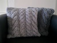 Four Cables Pillow--free pattern.