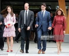 The Cambridge's and Trudeau's leave the Immigration Services Society, Vancouver. 9/25/2016