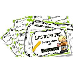 Comparaison de longueurs - cartes à tâches ! Measurement Kindergarten, Math Measurement, Math 2, Fun Math, Preschool Learning, Teaching Math, Math Blocks, Cycle 3, Learn French