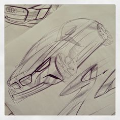 BMW sketch, nice metal texture