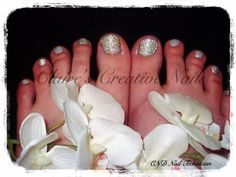 CND Shellac Pedicure with Swarovski Crystal Twinkle Toes, created by Claire's Creative Nails, Northampton. Check out our Facebook page: Claire's Creative Nails.
