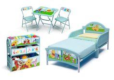 PACK CAMA WINNIE THE POOH, MESA Y SILLAS +ORGANIZADOR JUGUETERO. 99455WP, IndalChess.com Tienda de juguetes online y juegos de jardin