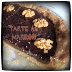 Tarte au Marron mit Kakao und karamellisierten Kardamom-Walnüssen <3