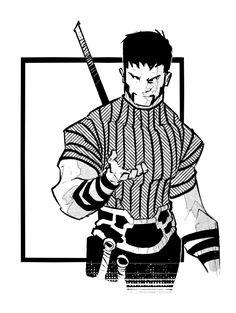 by PatBoutin on DeviantArt Comic Style Art, Comic Styles, Comic Books Art, Comic Art, Character Concept, Character Art, Superhero Art Projects, Mike Mignola Art, Scratchboard Art